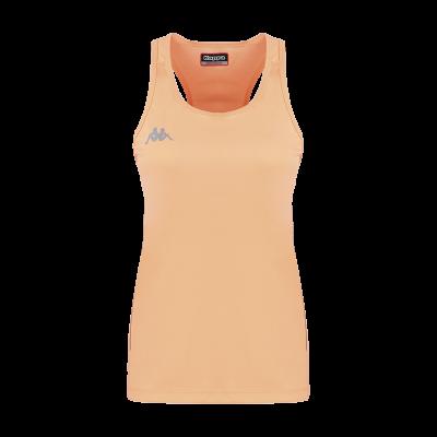 debardeur fanti orange fluo tennis running squash kappa