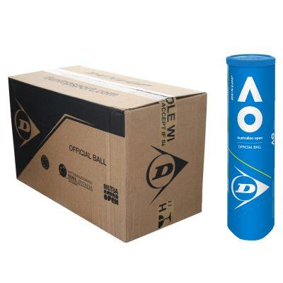 Carton de balles tennis AO Dunlop X4