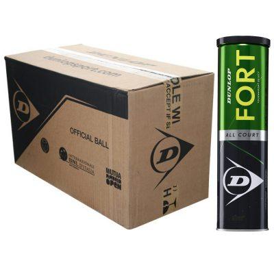 Carton balles tennis Dunlop Fort X4