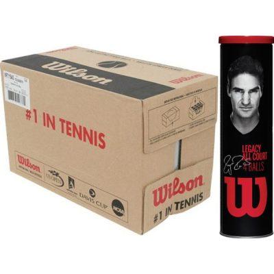Carton de balles de tennis X4 Wilson Legacy Roger Federer