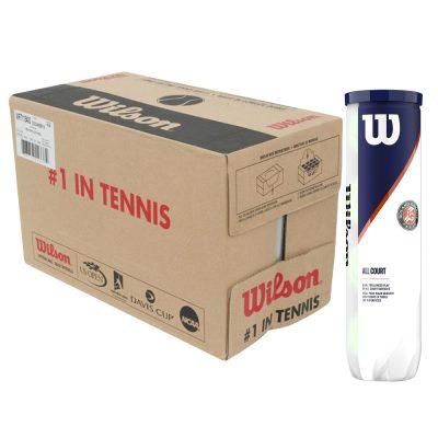 Carton de balles de tennis X4 Wilson Roland Garros All court