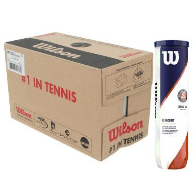 Carton de balles de tennis Wilson Roland Garros Clay CT X4