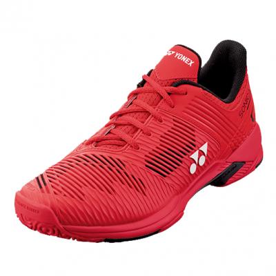 Chaussures terre battue, moquette, yonex, rouge